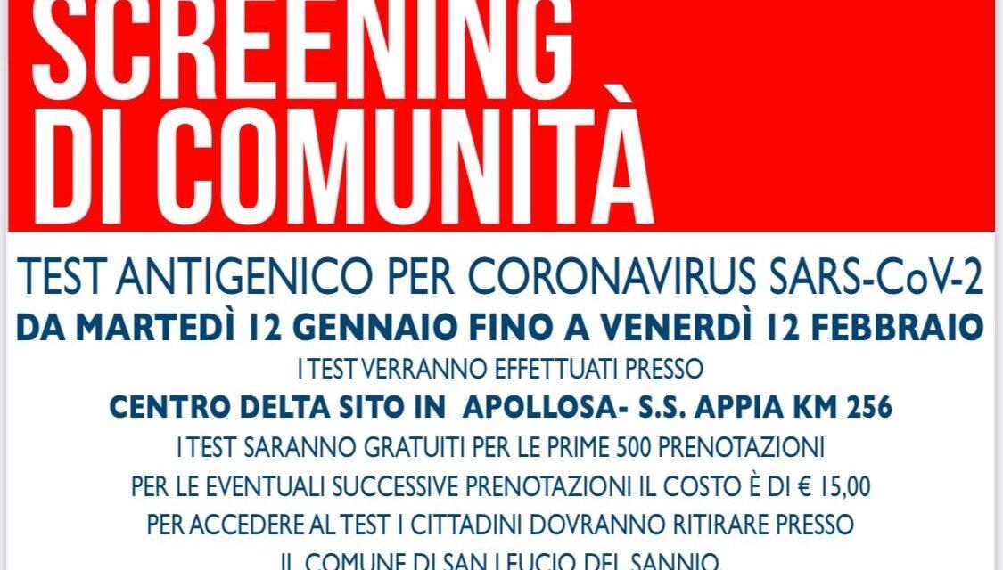 San Leucio, da domani screening anti Covid su tutta la popolazione