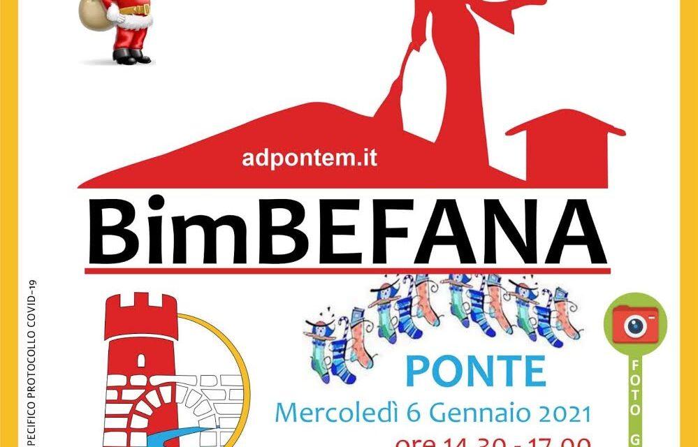 Con la Proloco la Befana atterrerà domani a Ponte. Primo evento realizzato con specifico protocollo anti Covid