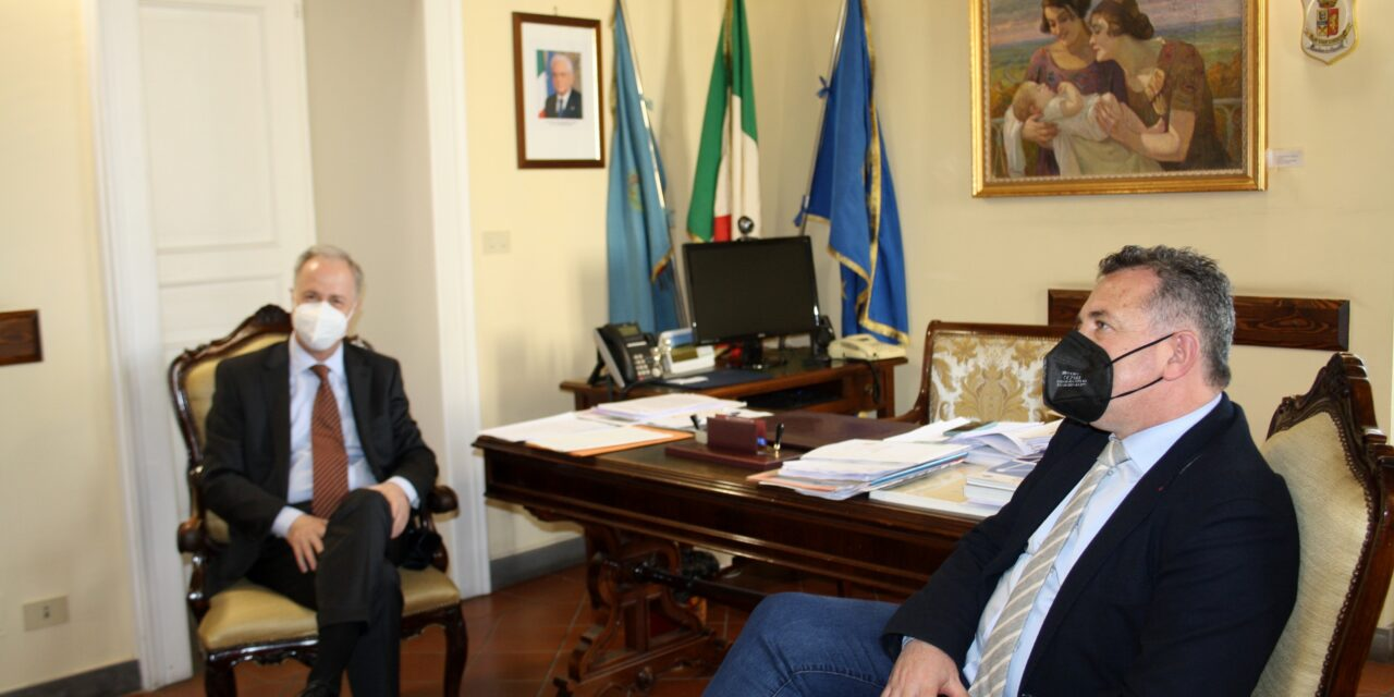 Visita istituzionale del nuovo Prefetto di Benevento al presidente Di Maria