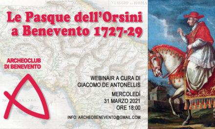 'Le Pasque dell'Orsini', il 31 marzo evento online di Archeoclub