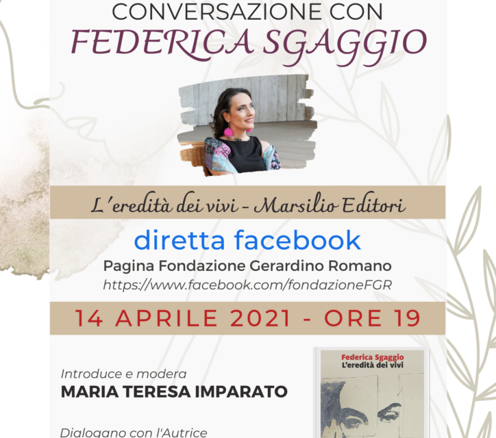'I Mercoledì culturali' della Fondazione Romano invitano all'incontro con Federica Sgaggio