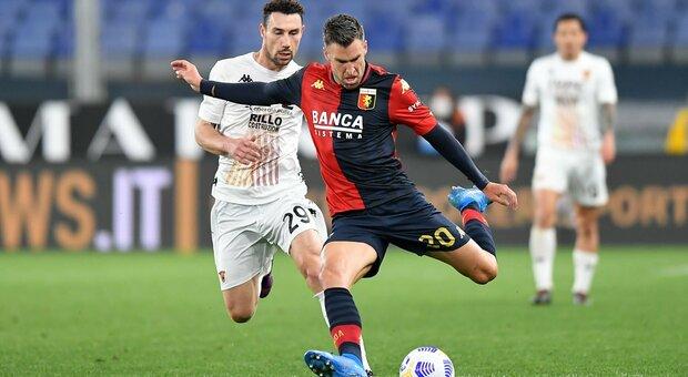 Il Genoa riprende due volte il Benevento: 2-2 a Marassi