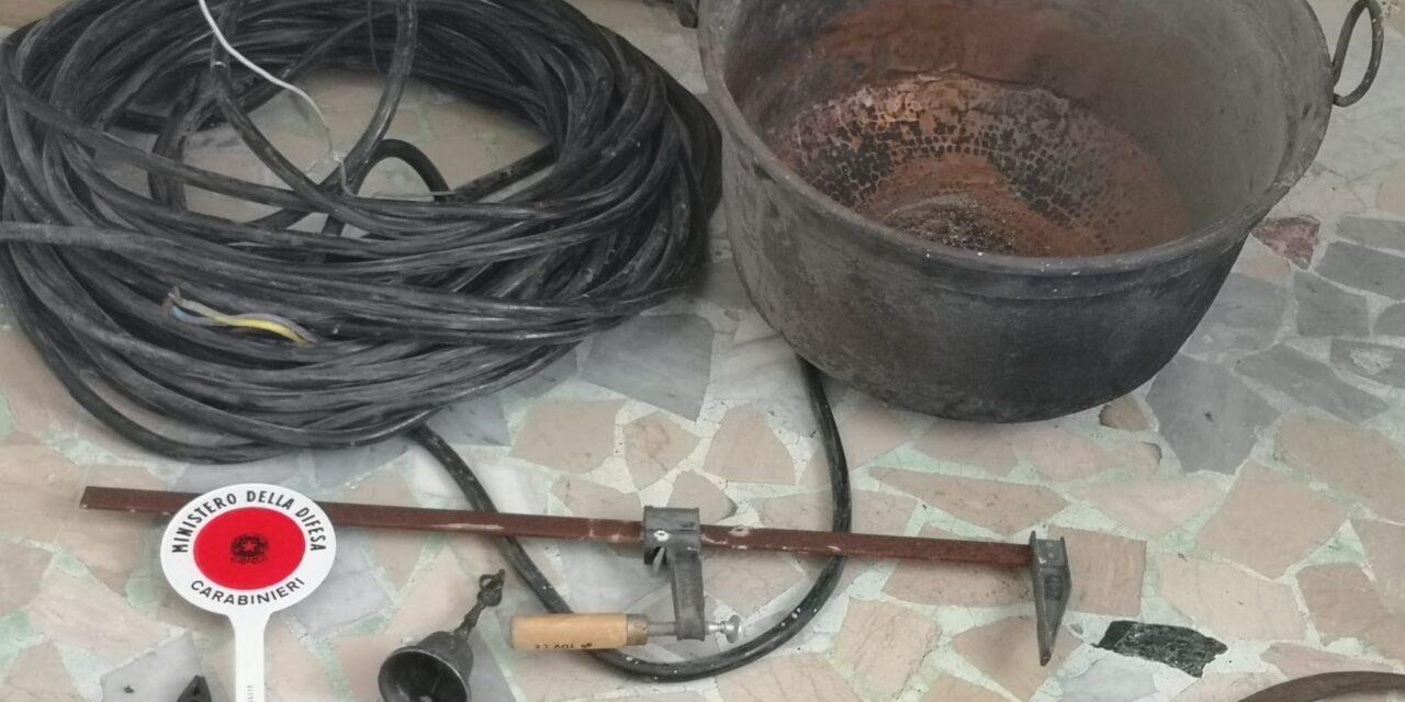 Frasso Telesino, i Carabinieri arrestano 2 persone in flagranza di reato per furto