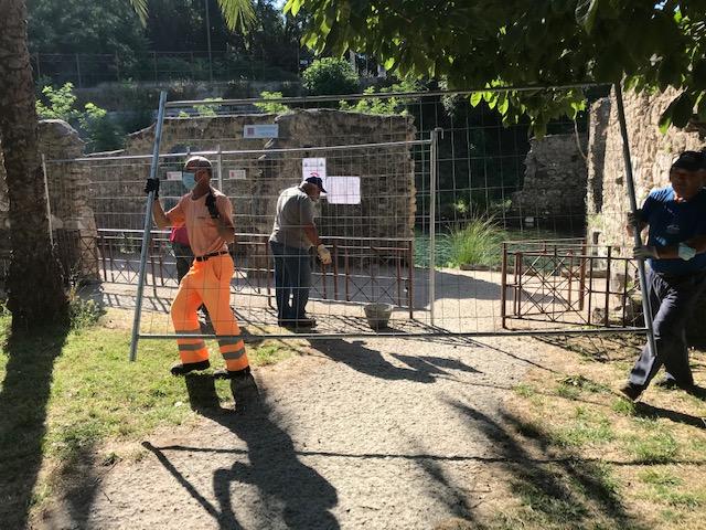 """Parco Jacobelli, rimosse recinzioni. Il sindaco: """"Provvedimento tempestivo era indispensabile per la sicurezza"""""""