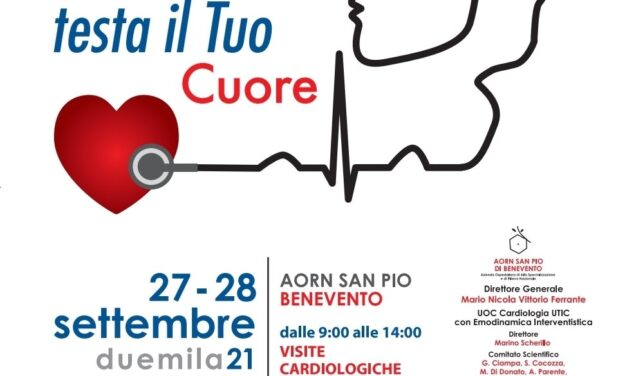 San Pio di Benevento: 27 e il 28 settembre giornate di prevenzione delle patologie cardiovascolari